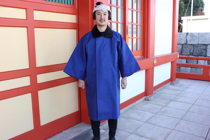冬のお祭り衣装 被布コート