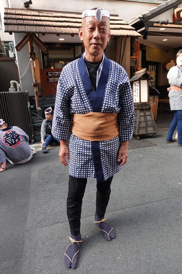 鳥居さん 粋な祭り男 着こなし 祭り用品