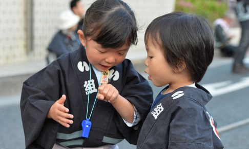 子供 お祭り衣装 サイズ調整