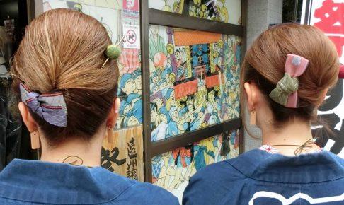 祭りヘア 髪型 髪飾り