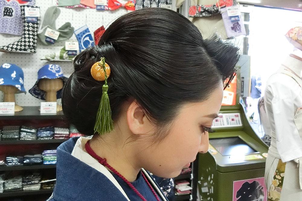 祭りヘアアレンジ