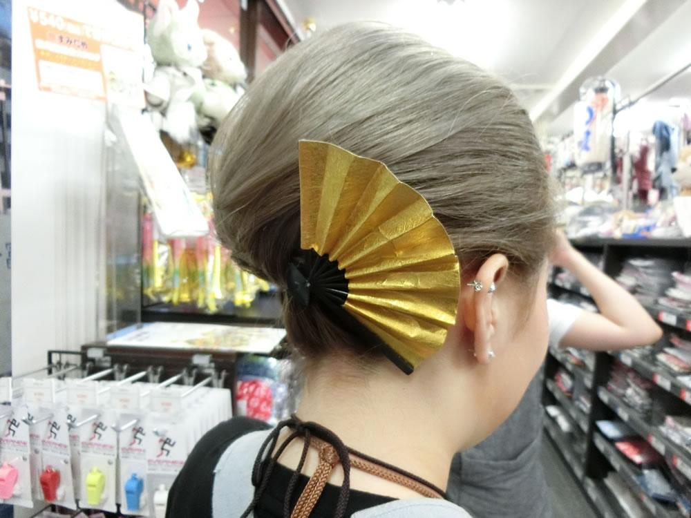 扇子髪飾り
