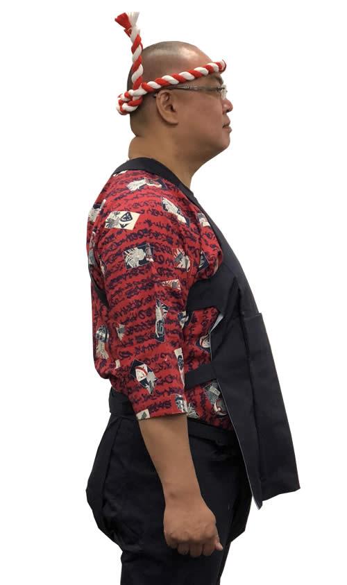 大きいサイズ 鯉口シャツ