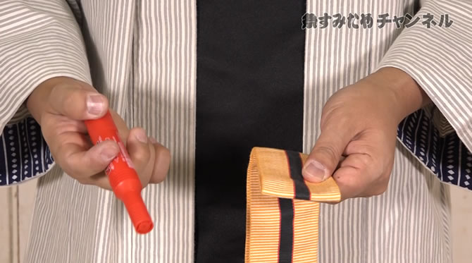 帯 結び目 祭り 裏技