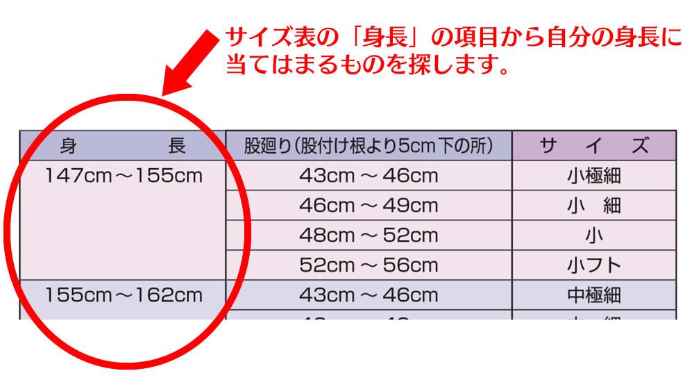 股引のサイズの選び方