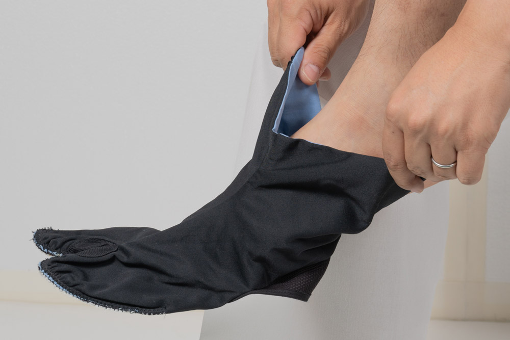 草鞋掛け足袋 足袋 履き方