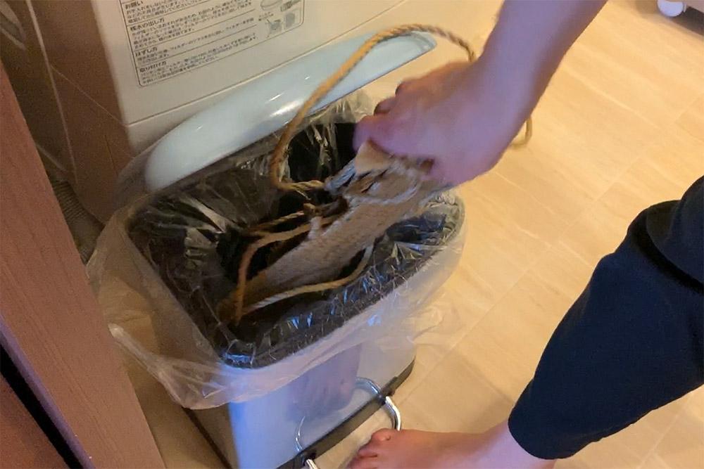 草鞋掛け足袋の洗い方