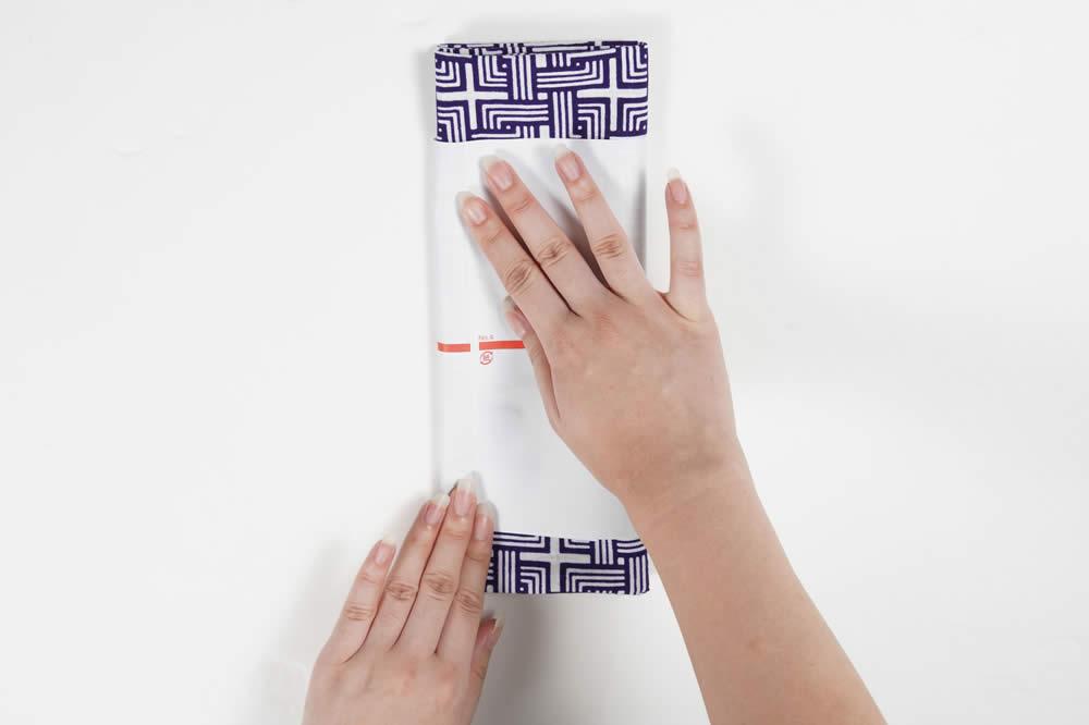 手ぬぐいのたたみ方・のし紙の巻き方