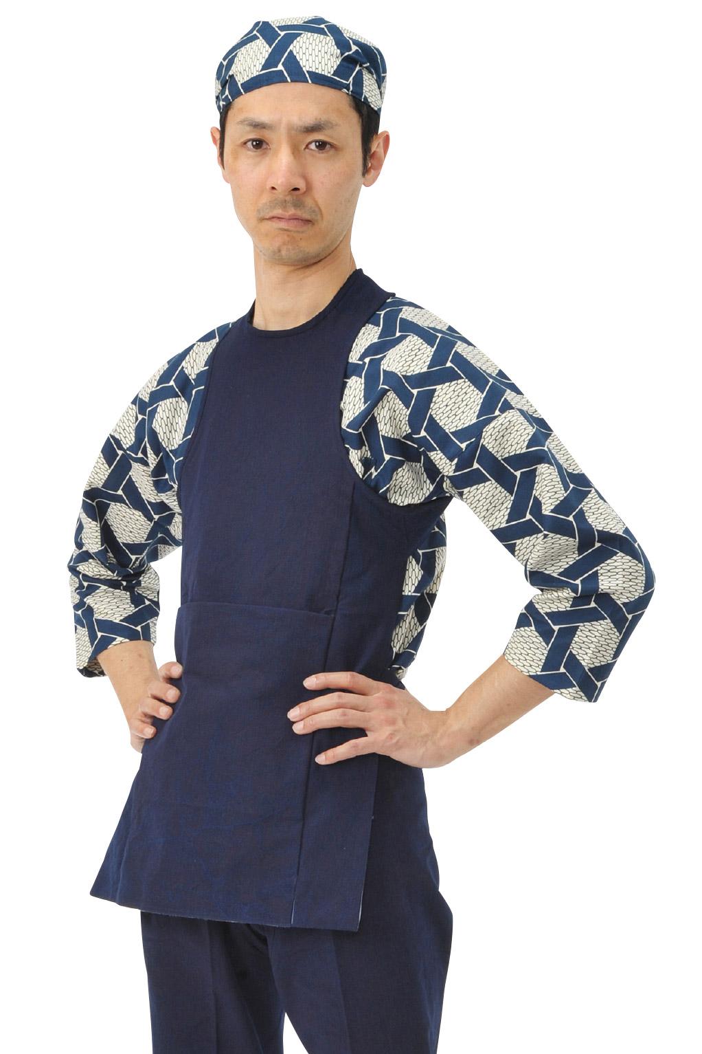 お祭り衣装 カラーコーディネート 紺 藍染