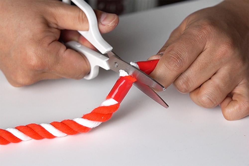 紅白ロープの切り方