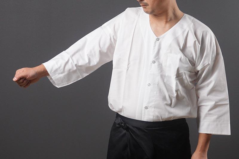 鯉口シャツの袖が長いのは間違い